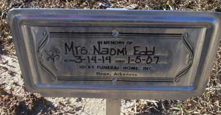 EDD, NAOMI - Nevada County, Arkansas | NAOMI EDD - Arkansas Gravestone Photos