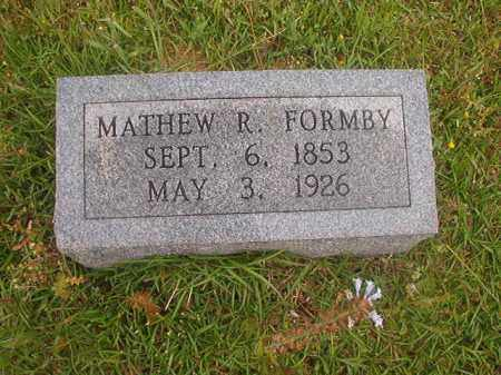 FORMBY, MATHEW R - Nevada County, Arkansas | MATHEW R FORMBY - Arkansas Gravestone Photos