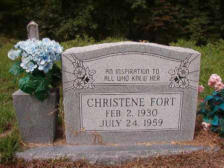 FORT, CHRISTENE - Nevada County, Arkansas | CHRISTENE FORT - Arkansas Gravestone Photos