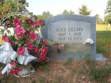 GILLARD, ALICE - Nevada County, Arkansas | ALICE GILLARD - Arkansas Gravestone Photos