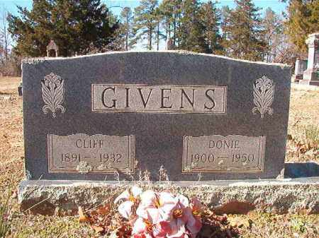 GIVENS, DONIE - Nevada County, Arkansas | DONIE GIVENS - Arkansas Gravestone Photos