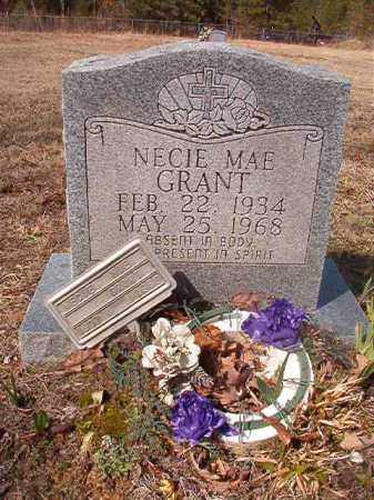 GRANT, NECIE MAE - Nevada County, Arkansas | NECIE MAE GRANT - Arkansas Gravestone Photos
