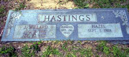 HASTINGS, J. WILLARD - Nevada County, Arkansas | J. WILLARD HASTINGS - Arkansas Gravestone Photos
