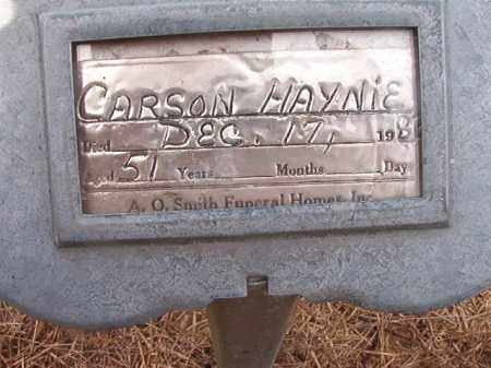HAYNIE, CARSON - Nevada County, Arkansas | CARSON HAYNIE - Arkansas Gravestone Photos