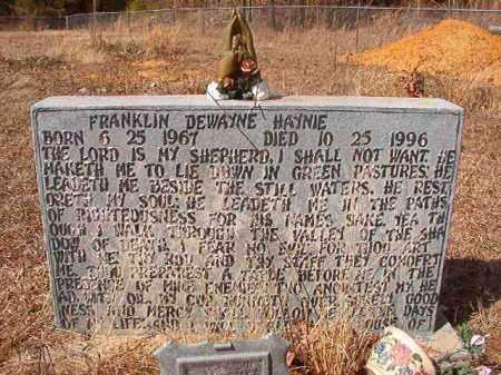 HAYNIE, FRANKLIN DEWAYNE - Nevada County, Arkansas | FRANKLIN DEWAYNE HAYNIE - Arkansas Gravestone Photos