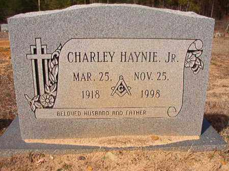 HAYNIE, JR, CHARLEY - Nevada County, Arkansas | CHARLEY HAYNIE, JR - Arkansas Gravestone Photos