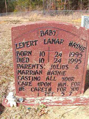 HAYNIE, LEVERT LAMAR - Nevada County, Arkansas | LEVERT LAMAR HAYNIE - Arkansas Gravestone Photos