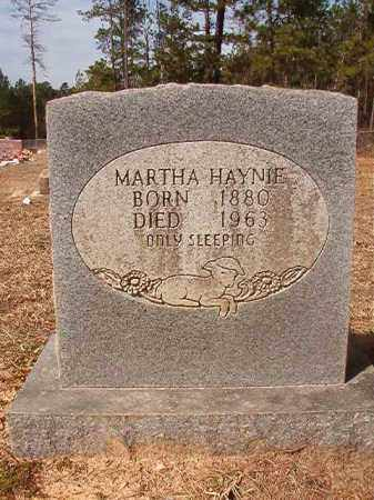 HAYNIE, MARTHA - Nevada County, Arkansas | MARTHA HAYNIE - Arkansas Gravestone Photos