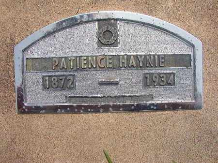 HAYNIE, PATIENCE - Nevada County, Arkansas | PATIENCE HAYNIE - Arkansas Gravestone Photos