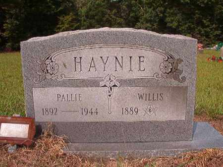 HAYNIE, PALLIE - Nevada County, Arkansas | PALLIE HAYNIE - Arkansas Gravestone Photos