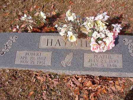 HAYNIE, PEARLIE - Nevada County, Arkansas | PEARLIE HAYNIE - Arkansas Gravestone Photos