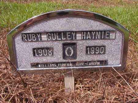 GULLEY HAYNIE, RUBY - Nevada County, Arkansas | RUBY GULLEY HAYNIE - Arkansas Gravestone Photos