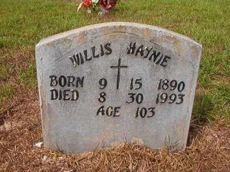 HAYNIE, WILLIS - Nevada County, Arkansas | WILLIS HAYNIE - Arkansas Gravestone Photos