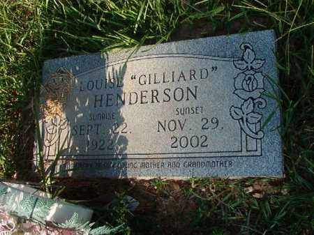 GILLIARD HENDERSON, LOUISE - Nevada County, Arkansas | LOUISE GILLIARD HENDERSON - Arkansas Gravestone Photos