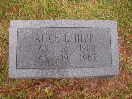 HIPP, ALICE L - Nevada County, Arkansas | ALICE L HIPP - Arkansas Gravestone Photos