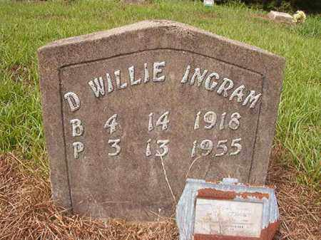 INGRAM, D WILLIE - Nevada County, Arkansas | D WILLIE INGRAM - Arkansas Gravestone Photos