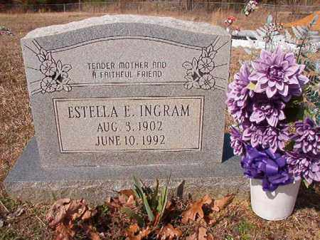 INGRAM, ESTELLA E - Nevada County, Arkansas | ESTELLA E INGRAM - Arkansas Gravestone Photos