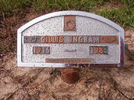 INGRAM, GILLIS - Nevada County, Arkansas | GILLIS INGRAM - Arkansas Gravestone Photos