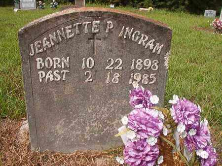 INGRAM, JEANNETTE P - Nevada County, Arkansas | JEANNETTE P INGRAM - Arkansas Gravestone Photos