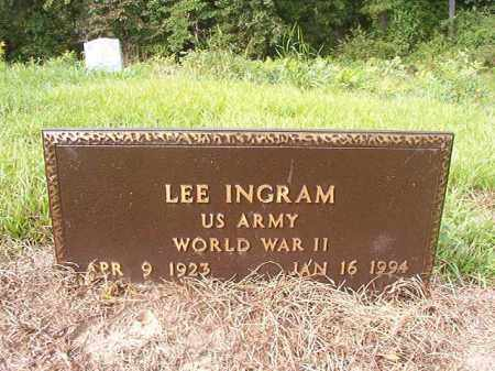 INGRAM (VETERAN WWII), LEE - Nevada County, Arkansas | LEE INGRAM (VETERAN WWII) - Arkansas Gravestone Photos