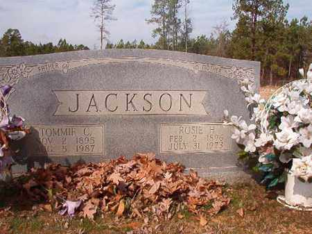 JACKSON, TOMMIE C - Nevada County, Arkansas | TOMMIE C JACKSON - Arkansas Gravestone Photos