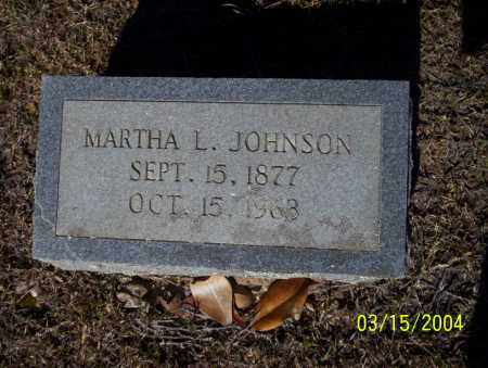 JOHNSON, MARTHA L - Nevada County, Arkansas | MARTHA L JOHNSON - Arkansas Gravestone Photos