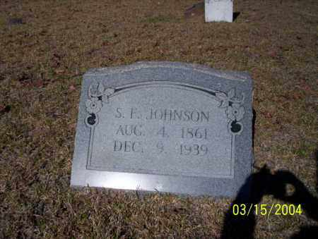 JOHNSON, S.F. - Nevada County, Arkansas | S.F. JOHNSON - Arkansas Gravestone Photos