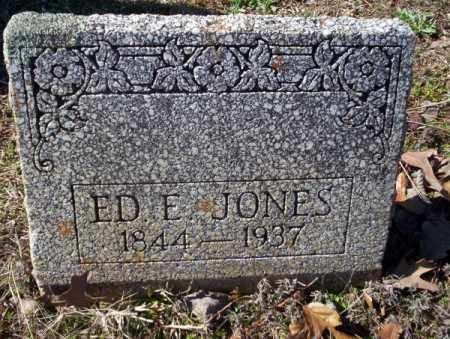 JONES, ED E - Nevada County, Arkansas | ED E JONES - Arkansas Gravestone Photos