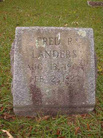 LANDERS, FRED R - Nevada County, Arkansas | FRED R LANDERS - Arkansas Gravestone Photos