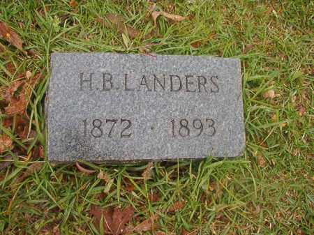 LANDERS, H B - Nevada County, Arkansas | H B LANDERS - Arkansas Gravestone Photos