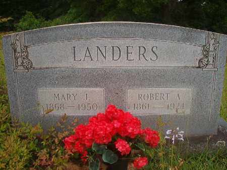 LANDERS, ROBERT A - Nevada County, Arkansas | ROBERT A LANDERS - Arkansas Gravestone Photos
