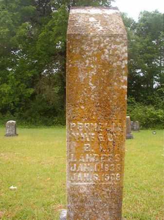 LANDERS, PERMELIA - Nevada County, Arkansas | PERMELIA LANDERS - Arkansas Gravestone Photos