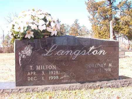 LANGSTON, T MILTON - Nevada County, Arkansas | T MILTON LANGSTON - Arkansas Gravestone Photos
