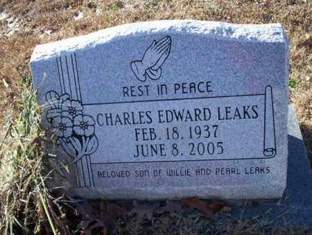 LEAKS, CHARLES EDWARD - Nevada County, Arkansas | CHARLES EDWARD LEAKS - Arkansas Gravestone Photos