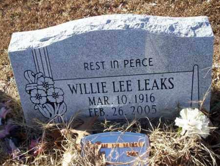 LEAKS, WILLIE LEE - Nevada County, Arkansas   WILLIE LEE LEAKS - Arkansas Gravestone Photos