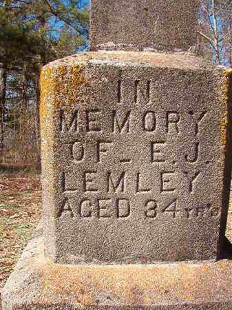 LEMLEY, E J - Nevada County, Arkansas | E J LEMLEY - Arkansas Gravestone Photos