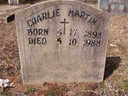 MARTIN, CHARLIE - Nevada County, Arkansas | CHARLIE MARTIN - Arkansas Gravestone Photos
