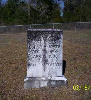 MCATEER, C.T.J. - Nevada County, Arkansas | C.T.J. MCATEER - Arkansas Gravestone Photos