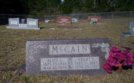 MCCAIN, ALICE L - Nevada County, Arkansas | ALICE L MCCAIN - Arkansas Gravestone Photos