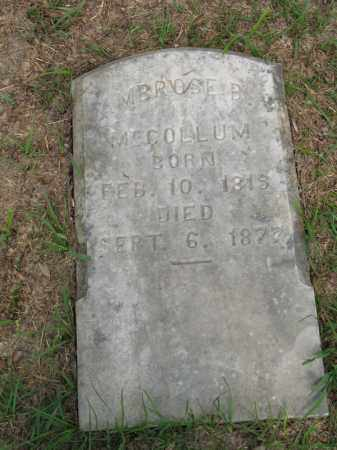 MCCOLLUM, AMBROSE B. (CLOSE UP) - Nevada County, Arkansas | AMBROSE B. (CLOSE UP) MCCOLLUM - Arkansas Gravestone Photos