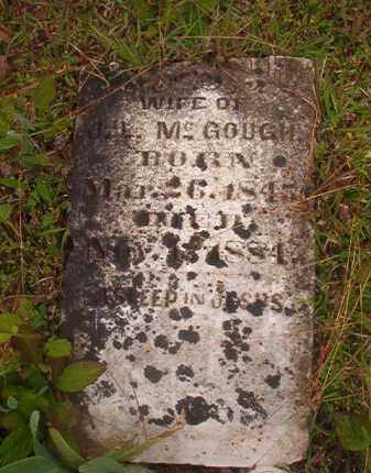 MCGOUGH, ELIZABETH - Nevada County, Arkansas | ELIZABETH MCGOUGH - Arkansas Gravestone Photos