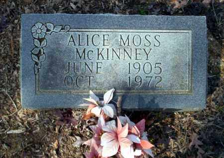 MOSS MCKINNEY, ALICE - Nevada County, Arkansas | ALICE MOSS MCKINNEY - Arkansas Gravestone Photos