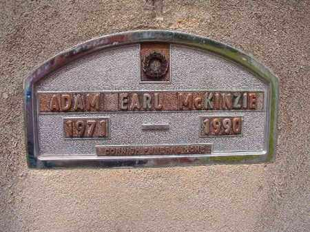 MCKINZIE, ADAM EARL - Nevada County, Arkansas | ADAM EARL MCKINZIE - Arkansas Gravestone Photos