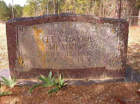 HAYNIE MEADOWS, LELA - Nevada County, Arkansas | LELA HAYNIE MEADOWS - Arkansas Gravestone Photos