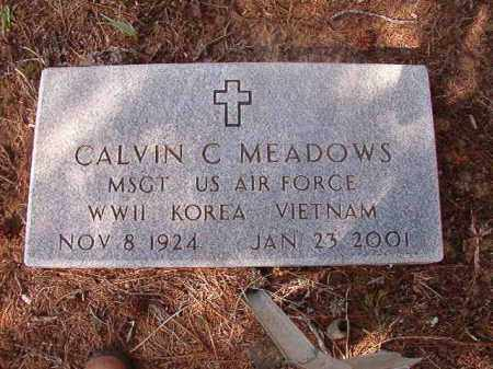 MEADOWS (VETERAN 3 WARS), CALVIN - Nevada County, Arkansas | CALVIN MEADOWS (VETERAN 3 WARS) - Arkansas Gravestone Photos