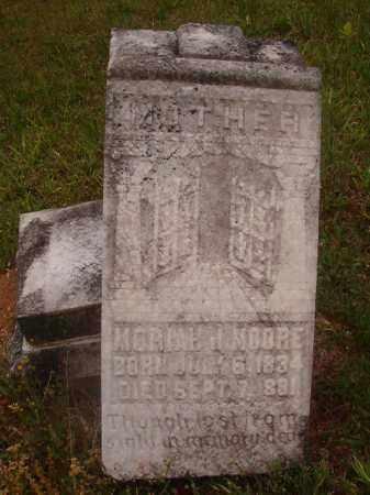 MOORE, MORIAH J - Nevada County, Arkansas | MORIAH J MOORE - Arkansas Gravestone Photos