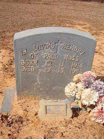 MOSS, PAUL - Nevada County, Arkansas | PAUL MOSS - Arkansas Gravestone Photos
