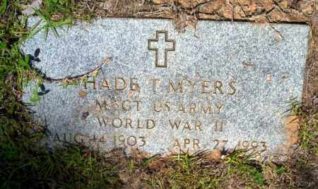 MYERS  (VETERAN WWII), HADE T - Nevada County, Arkansas | HADE T MYERS  (VETERAN WWII) - Arkansas Gravestone Photos