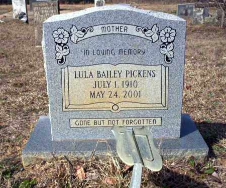 BAILEY PICKENS, LULA - Nevada County, Arkansas | LULA BAILEY PICKENS - Arkansas Gravestone Photos