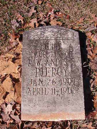 PIERCY, LILLIE - Nevada County, Arkansas | LILLIE PIERCY - Arkansas Gravestone Photos